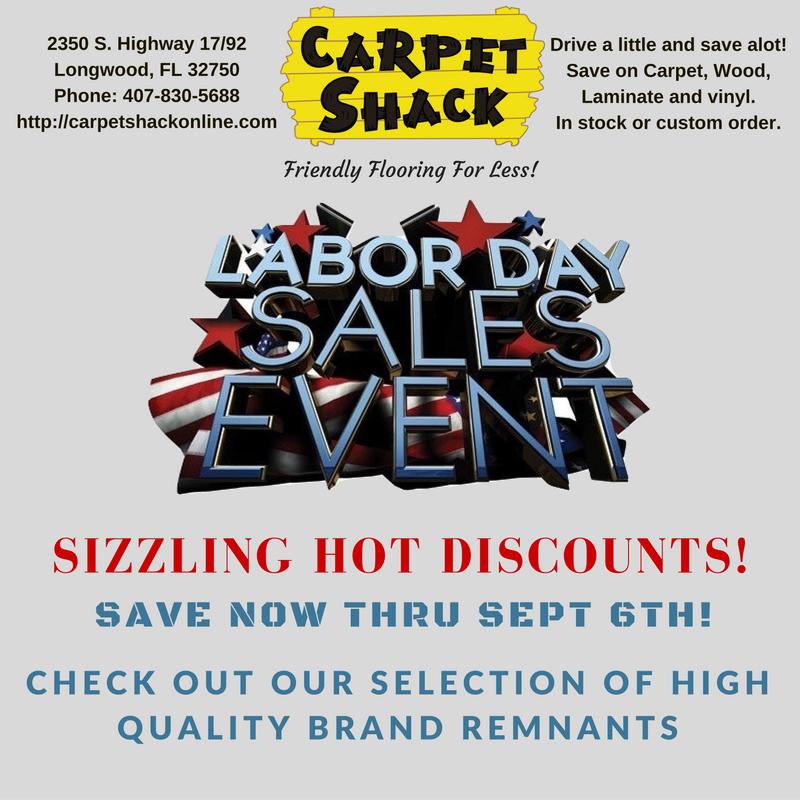 Carpet Shack Labor Day Sales Event