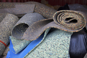 carpet padding before it broke down