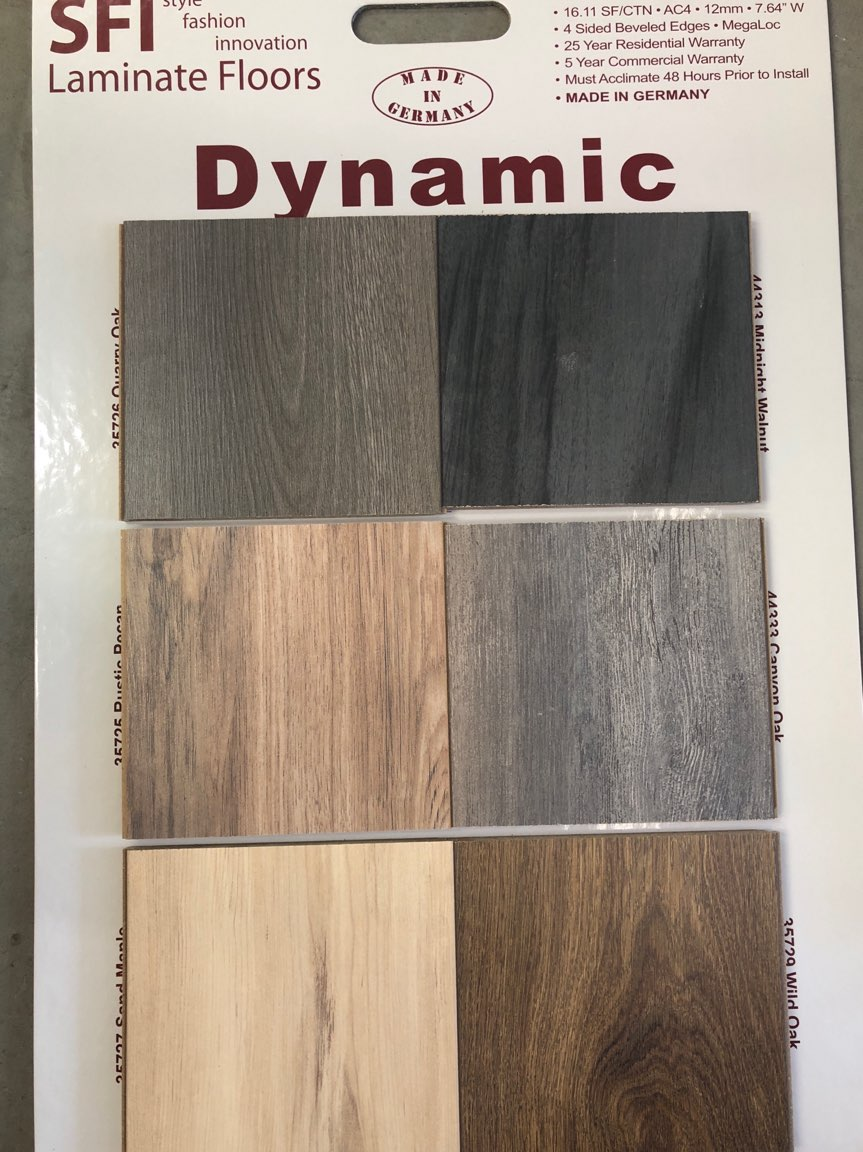 Dynamic laminate flooring