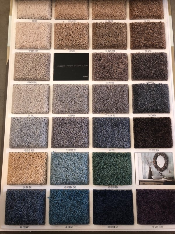 Shaw carpet selection