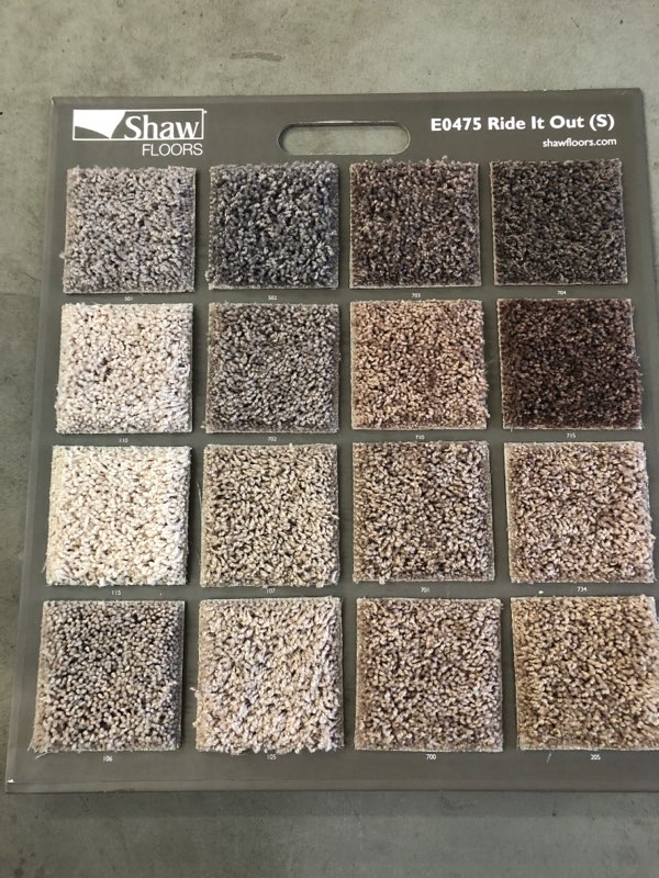 Shaw carpet selections