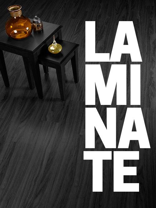 selection of laminate flooring